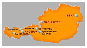 австрия на карте