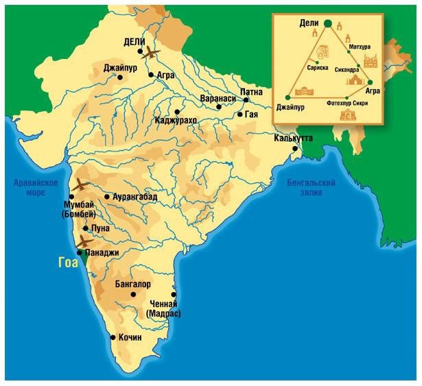 индия карта