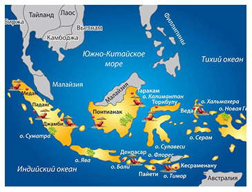 индонезия на карте