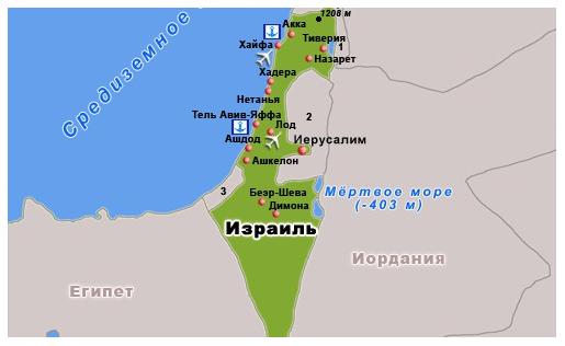 израиль карта