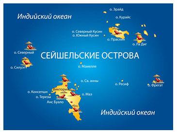 сейшельские острова на карте