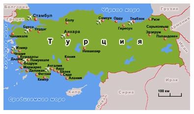 турция карта